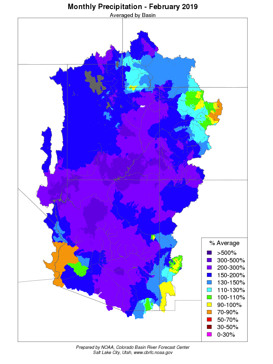 Lower Colorado Water Supply Outlook, March 1, 2019