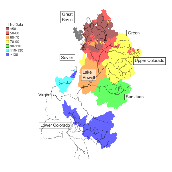 March 1, 2010 runoff forecast, Colorado Basin River Forecast Center